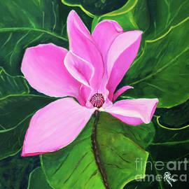 Pink Magnolia in Bloom by Carmen Rein