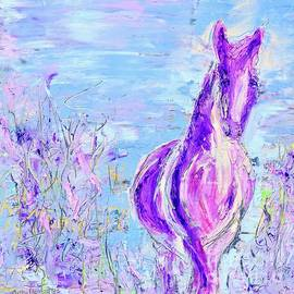 Pink Pony Painting by Patty Donoghue