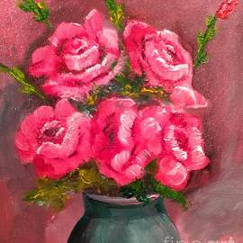 Pink Roses by Lee Piper