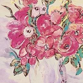 Pink Still Life by Eloise Schneider Mote