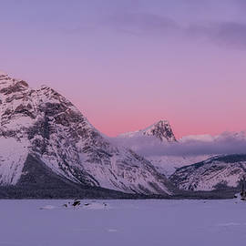 Pink Sunrise, Kananaskis, Alberta, Canada by Yves Gagnon