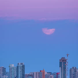 Pink Supermoon Calgary Alberta by Yves Gagnon
