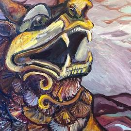 Pixiu Dragon of Good fortune by Susan Brown    Slizys art signature name