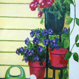 Plants on a Stand by Rae Raisbeck