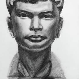 Plaster Cast Bust Drawing  by Lavender Liu