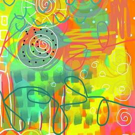 Play Play Play Scribble Abstract  by Sarah Niebank