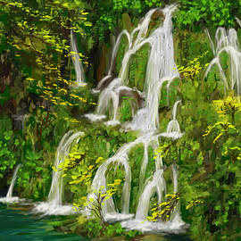 Plitvice Falls Detail by Gary F Richards