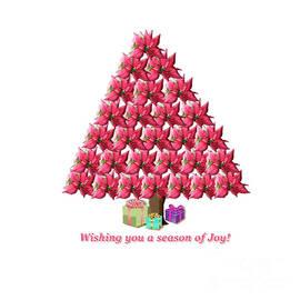 Poinsettia Christmas Tree by Julieanne Case