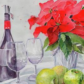 Poinsettia Still Life by Patty Strubinger