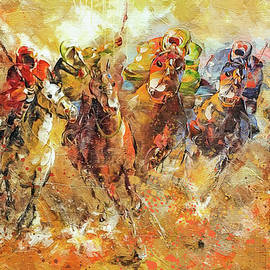 Polo Game  by Boghrat Sadeghan