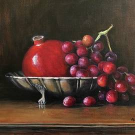 Pomegranate And Grapes by Anne Barberi