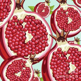 Pomegranate fresh abstract  by Mark Ashkenazi