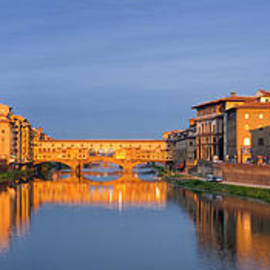 Ponte Vecchio Panoramic, Florence, Tuscany, Italy by Justin Foulkes