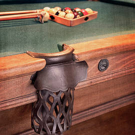 Pool Table Leather Mesh Side Pocket by Betty Denise