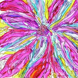 Popping Psychedelic Flower by Patty Donoghue