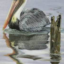 Port Fourchon Pelican by Phyllis Beiser