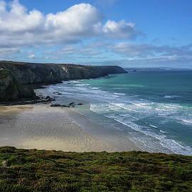 Porthtowan Beach Cornwall by Richard Brookes