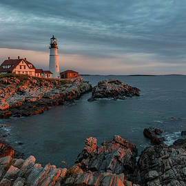 Portland Head Lighthouse Morning Glow by Scott Cunningham
