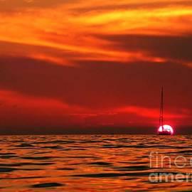 Portoroz Sunset by Amalia Suruceanu