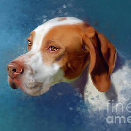 Portrait of a Pointer by Michelle Wrighton