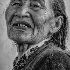 Portrait of a village Oracle by Murray Rudd