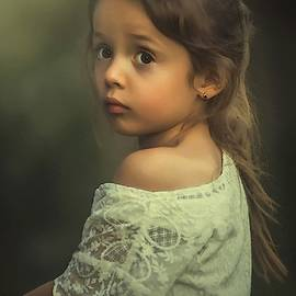Portrait Of A Young Girl L A S by Gert J Rheeders