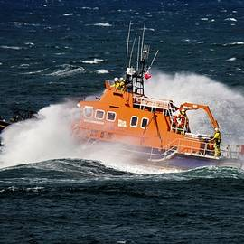 Portrush Lifeboat by Neil R Finlay