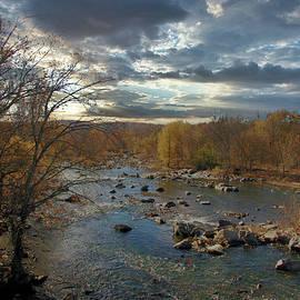 Potomac At Great Falls In Evening by Daniel Beard