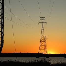 Power Line Sunset by Cynthia Guinn