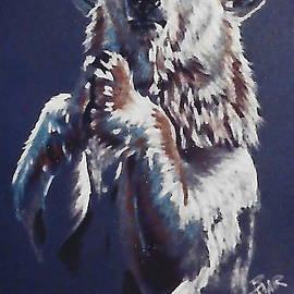 Praying Polar Bear by Barbara Keith