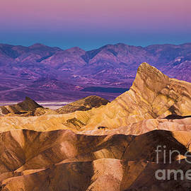 Pre-dawn at Zabriskie Point, Death Valley, California by Neale And Judith Clark