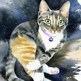 Pretzel Tabby Cat Painting by Dora Hathazi Mendes