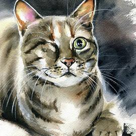 Princess Raya Tabby Cat Painting by Dora Hathazi Mendes