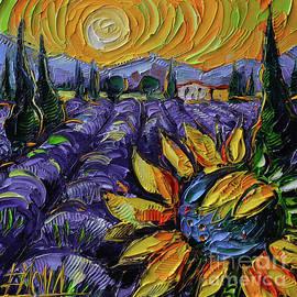 PROVENCE BEAUTY textured impressionism palette knife oil painting Mona Edulesco by Mona Edulesco