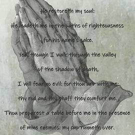 Psalm 23 Praying Hands by Movie Poster Prints