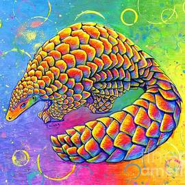 Psychedelic Pangolin by Rebecca Wang