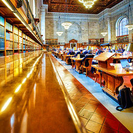 Public Library Rose Reading Room #2 - New York City by Stuart Litoff