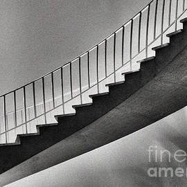 Public Staircase - Black And White by Anthony Ellis