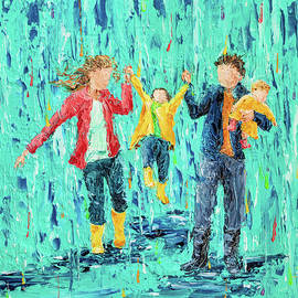 Puddle Jumping - Family Style No 8 by Cynthia Christine