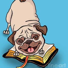 Pug with His Bible by Joseph Juvenal