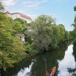 Punt Boating on the Neckar River by Robert VanDerWal