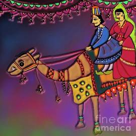 Puppets Riding On Their Camel by Latha Gokuldas Panicker