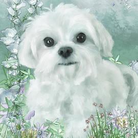 Puppy In The Garden by Lois Bryan
