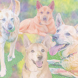 Puppy Wonder Collage by Mariecor Agravante
