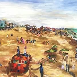 Puri beach by Geeta Biswas