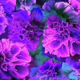 Purple Blue Trumpets Flowers  by Grace Iradian