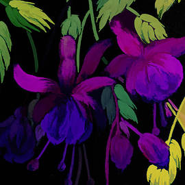 Purple Fuchsias by Trudee Hunter