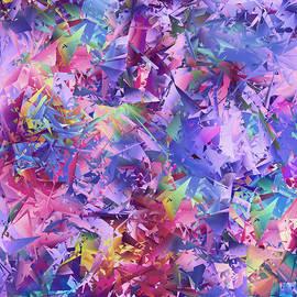 Purple Glass Mosaic  by Grace Iradian