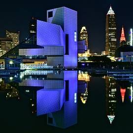 Purple Night in Cleveland by Frozen in Time Fine Art Photography
