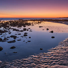 Purple sunset. Sand traces. Bolonia beach. Tarifa. Spain by Guido Montanes Castillo